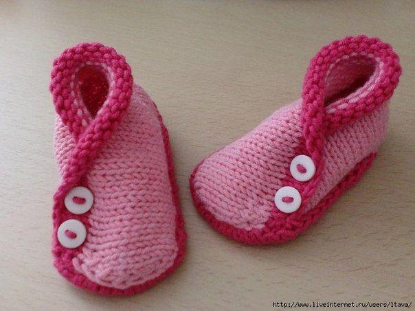 Delicadezas en crochet Gabriela: Zapatitos en dos agujas