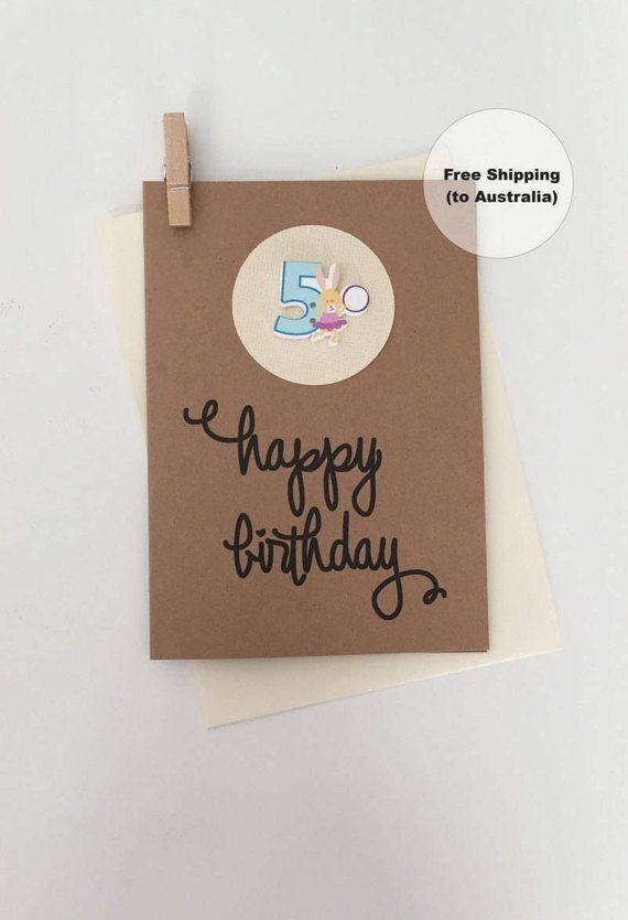 5th Birthday Card – 5th Happy Birthday Card – Age 5 Happy Birthday Card – Fifth Happy Birthday Card – Happy 5th Birthday Card