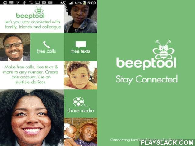 BeepTool - Free Calls & Text  Android App - playslack.com , BeepTool provides you unlimited free CALLS, VIDEO CALLS and TEXTS MESSAGES with any kind of attachments to other BeepTool users FOR FREE via 3G/4G/LTE or WiFi.If you want to call non-user, it's not a problem. BeepTool Out allows you to call landlines and mobiles, even if they are not BeepTool numbers. Our call rates are some of the lowest in the world. But BeepTool is more than that. Unlike other apps, BeepTool offers the lowest…