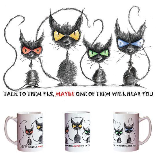 """Talk to them, MAYBE one of them will hear you""  #mugs #kubki #luxplanet #timburton"