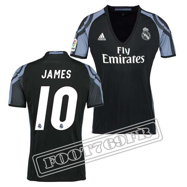 Promo Maillot Du James 10 Real Madrid Femme Noir/Violet 16/17 Third : La Liga