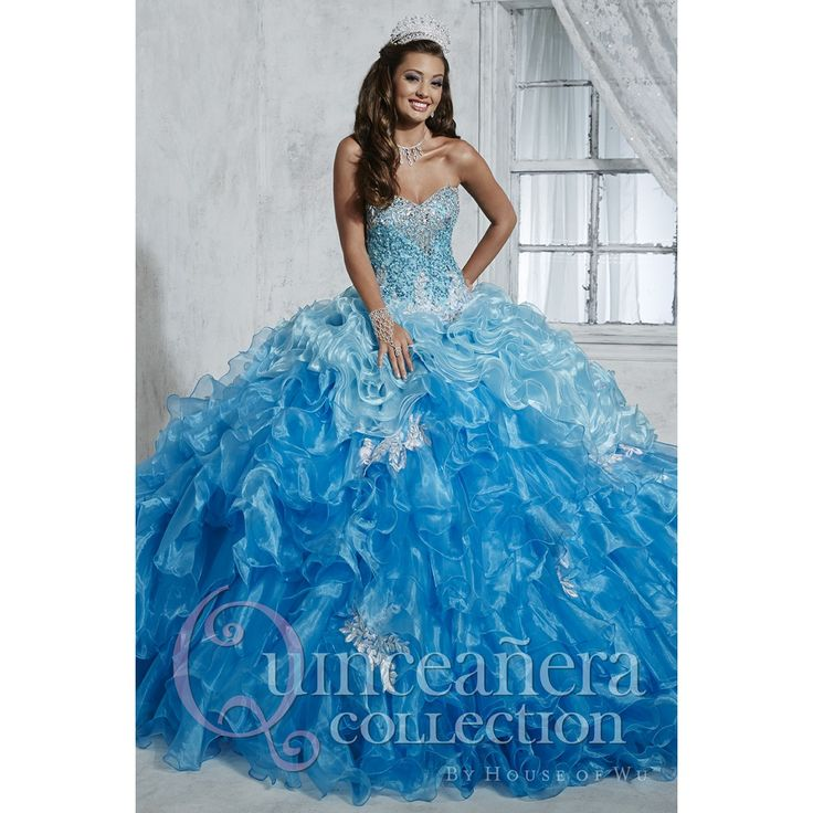 Sweet 15 dresses turquoise and white wedding