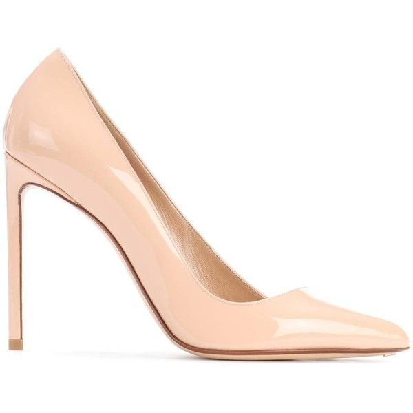 Patent leather pumps Francesco Russo ($769) ❤ liked on Polyvore featuring shoes, pumps, patent leather pumps, pink pumps, pink patent leather shoes, pink patent shoes and pink patent leather pumps