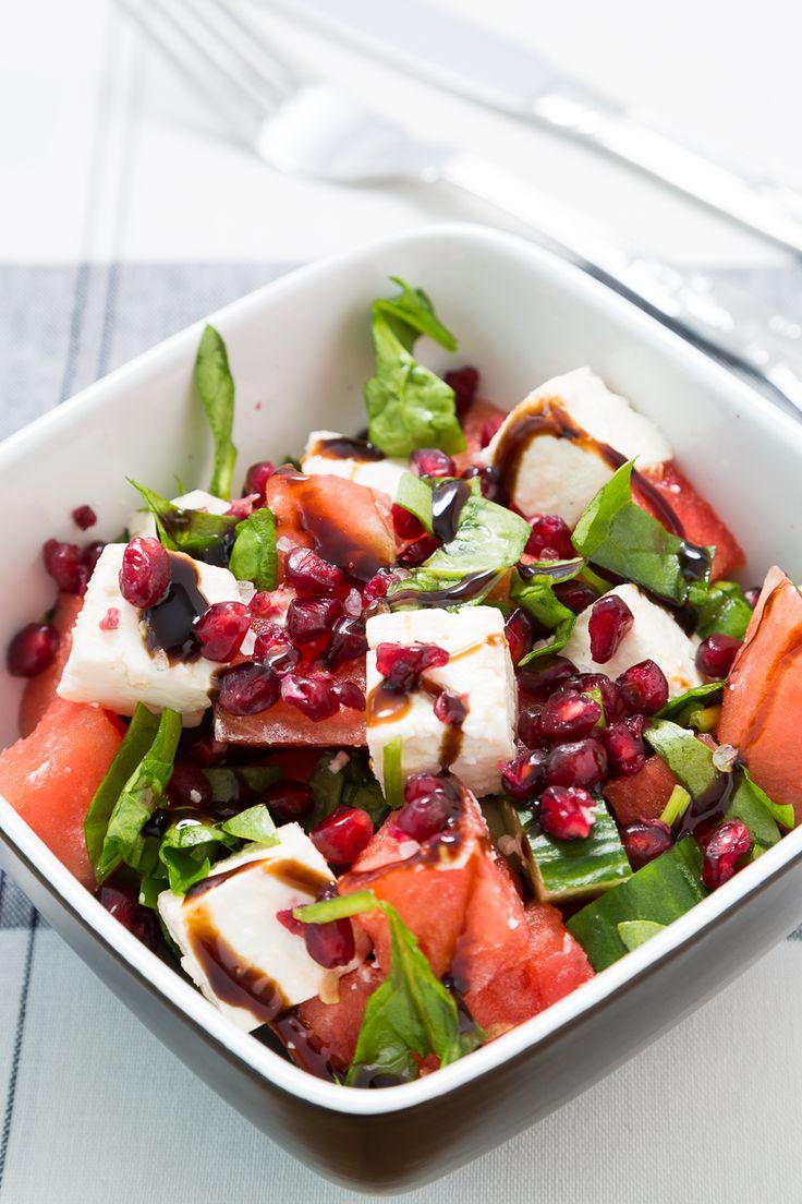 Watermelon Feta Cheese Pomegranate salad