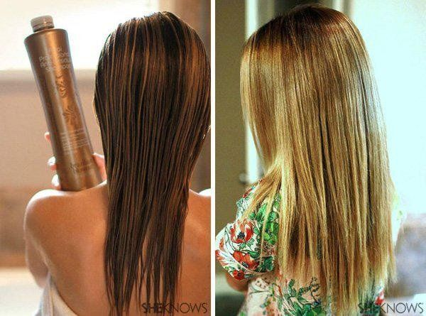 DIY Brazilian blowout: Sleek, straight hair at home (I'll have to try this out sometime).