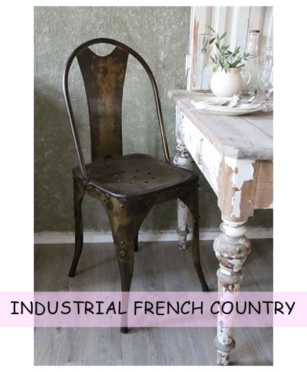 Industrial French Country Dining Chairs