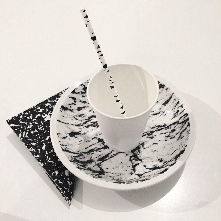 Black and white set #noise #marble #daily #set #thefour #budapest #lifestyle
