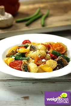 Potato Gnocchi Roasted Capsicum. #HealthyRecipes #DietRecipes #WeightLossRecipes weightloss.com.au
