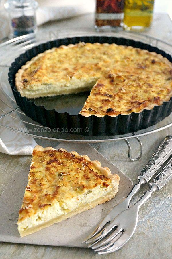 Torta salata ai porri e ricotta - Ricotta and leek tart | From Zonzolando.com