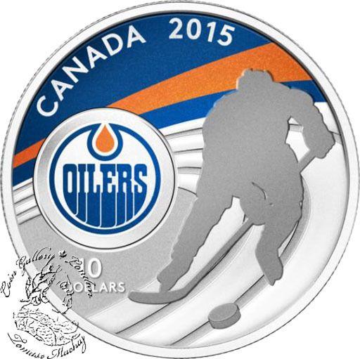 Coin Gallery London Store - Canada: 2015 $10 Edmonton Oilers Silver Coin, $74.95