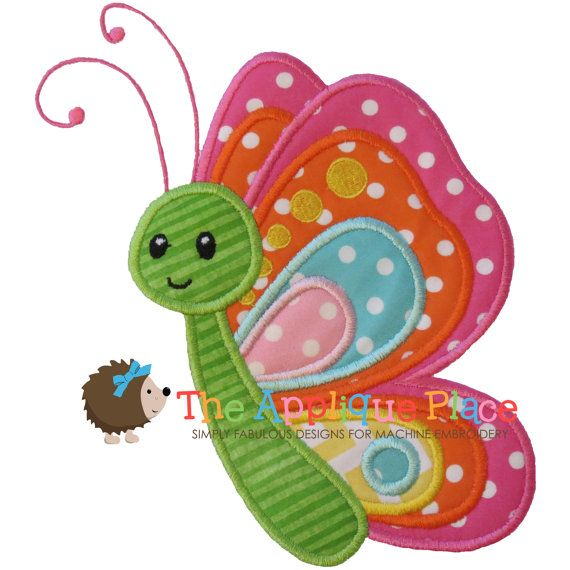 Butterfly Machine Embroidery Applique Design by TheAppliquePlace, $4.00