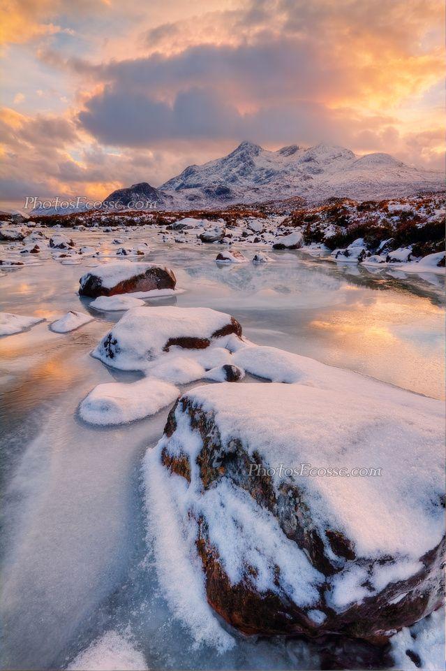 Sgurr nan Gillean. Winter. Sligachan. Isle of Skye. Scotland.