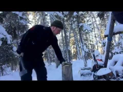 Use this technique the next time you split wood! - YouTube