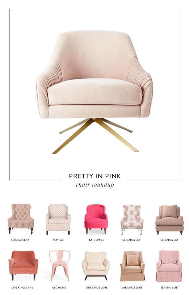 Love pink? So do we! Get the look for the prettiest pink chairs here: http://www.stylemepretty.com/living/2016/03/02/12-pink-chairs-that-steal-the-show/
