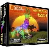 Laser Pegs - 12- In-1 National Geographic Animals Set - Multi-Color