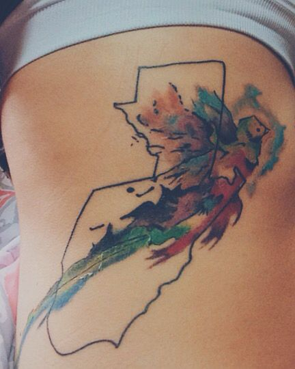 Watercolor Guatemala tattoo