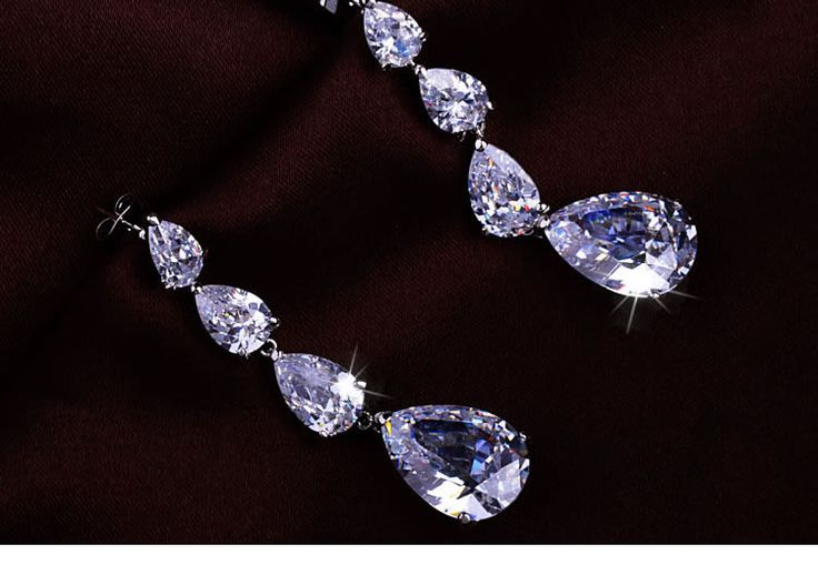 Shiny Rhinestone Drop Earrings$42.00 ,Style No.: LJE00008 | See more about Drop