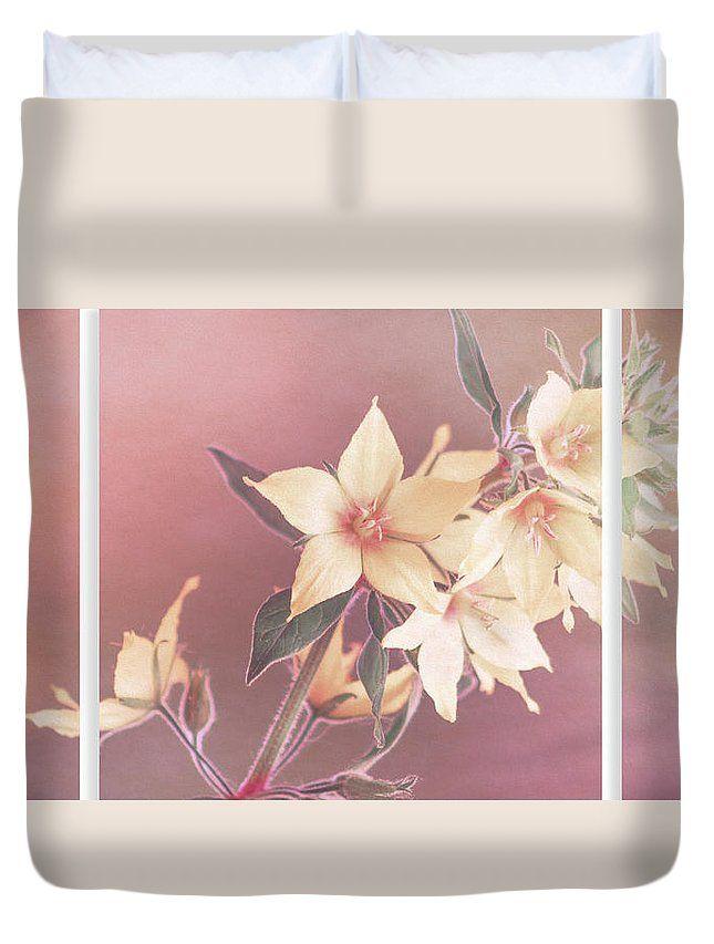 Duvet Cover featuring the photograph Flowers Macro Triptych Panel by Larysa Koryakina  #HomeIdeas #LarysaKoryakinaFineArtPhotography #DuvetCover #BedroomIdeas #ArtForHome #interiordesing #artforsale #cover #bed #bedroom