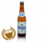 Brugs Tarwebier pours a fine gold with a sweet banana fruity aroma. The flavour has low bitterness and a sweet banana taste.