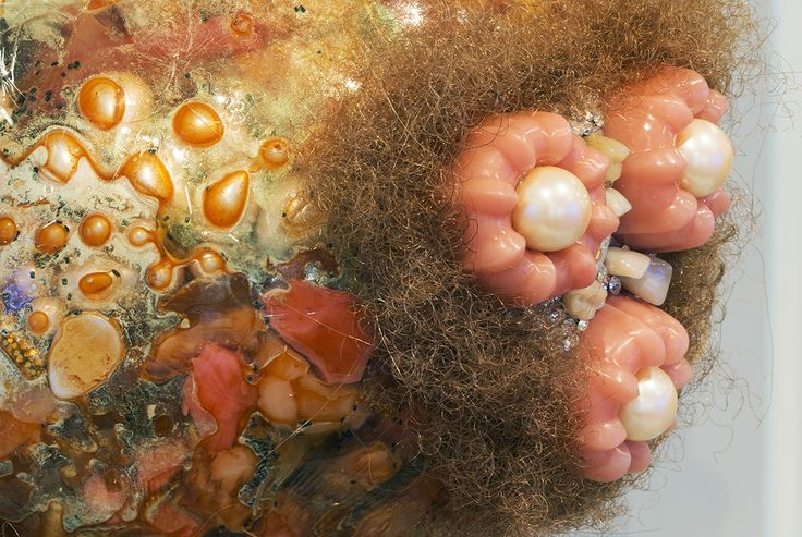 Pearl Necklace with Meat Sack (close-up) by Doreen Garner