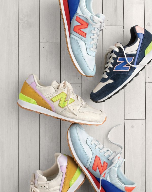 crew womens new balance for j.crew 620 sneakers in light blue persimmon new balance for j.crew 696 sneakers in navy blue salmon and new balance for