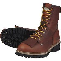Gravel Gear 8in. Logger Boot - Brown, Size 9 1/2