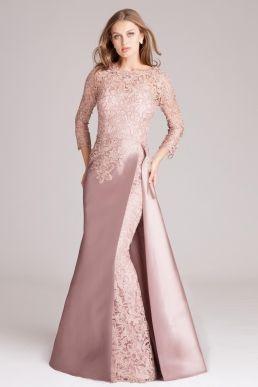 Silk Gazar   Lace A-Line Gown  f7e0b0e8cebf