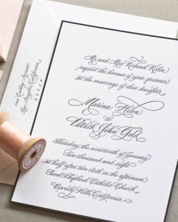 Letterpress Calligraphy - simple and elegant