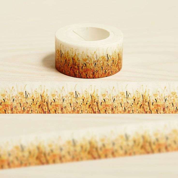 2cm*10m Autumn Grass washi tape DIY decorative scrapbook planner masking tape adhesive tape label sticker stationery
