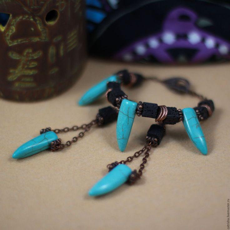 Купить Комплект украшений Медея (этно,бохо, серьги, браслет, подарок девушке)