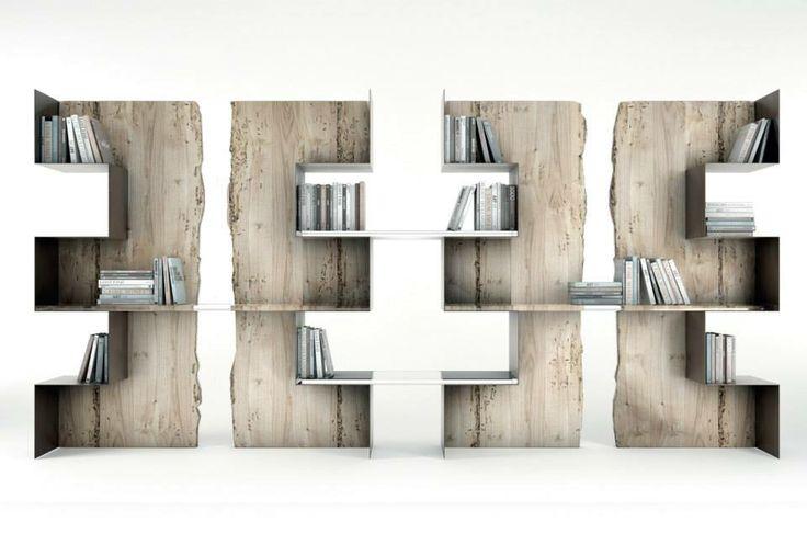 #wood and metal, #bookshelf