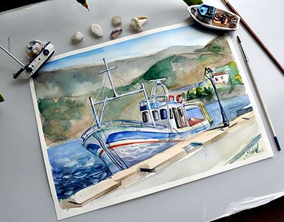 """Check out new work on my @Behance portfolio: """"Boats in Greece"""" http://on.be.net/1DstLAC"""