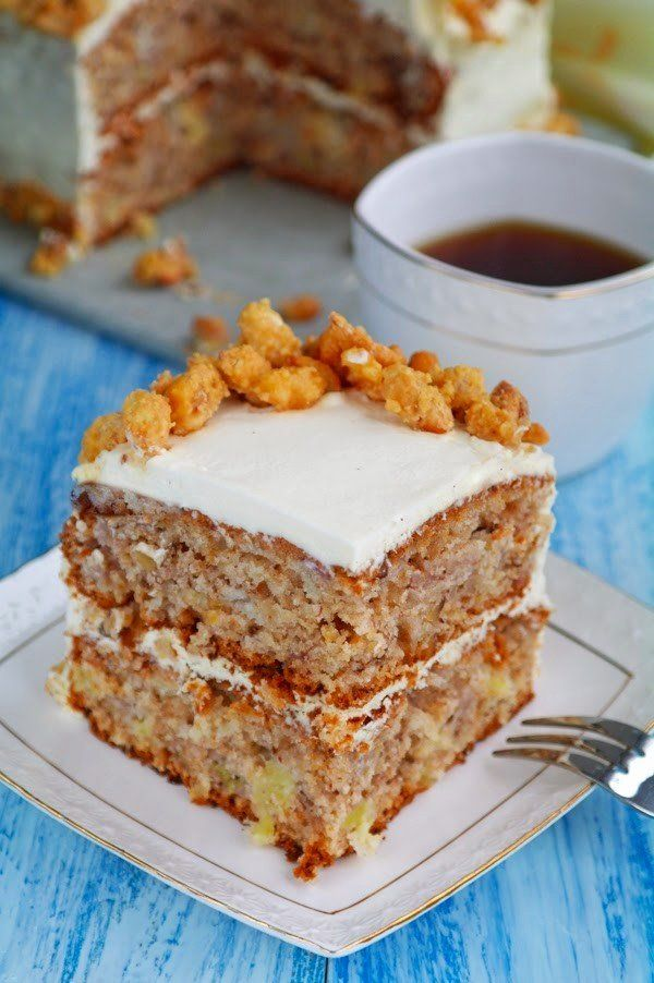 Recipe Banana-pineapple cake with nuts: http://wonderdump.com/banana-pineapple-cake-with-nuts/