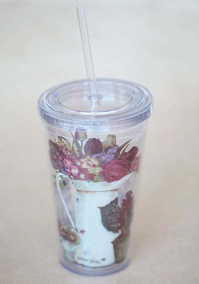 Jardin Du Marais Insulated Cup With Straw   Modern Vintage New Arrivals  $13