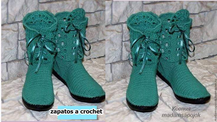 BOTAS Y ZAPATOS A CROCHET