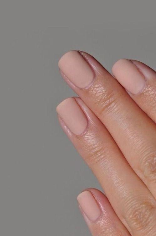 Matte neutral nails