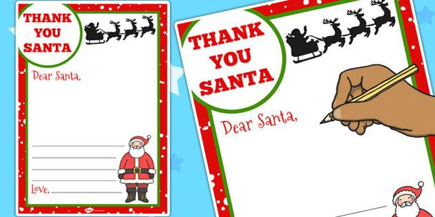 Thank You Letter To Santa Template  Twinkl  Christmas
