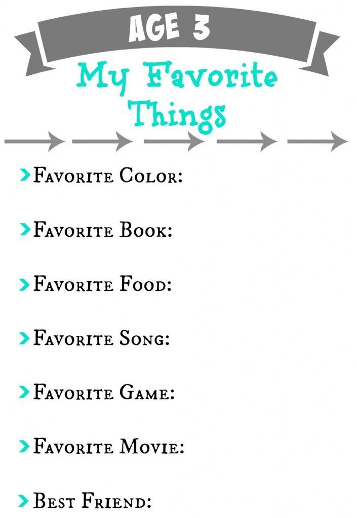 Annual Birthday Questionnaire for a Memory Book!  FREE Printable.