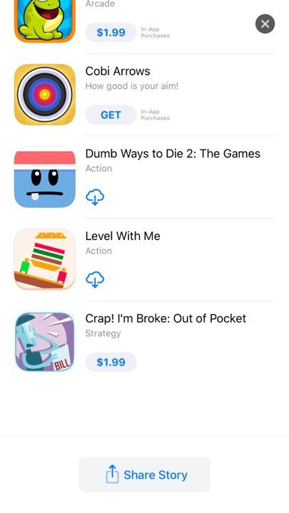 We are featured in the US App Store today alongside several other Minigame-style games! Such an honor to be featured alongside these great games!