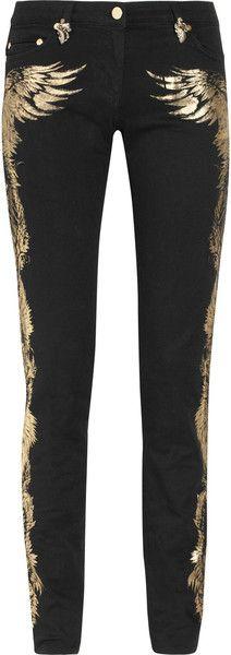 ROBERTO CAVALLI appliqueés Midrise Jeans Skinny....!!!!
