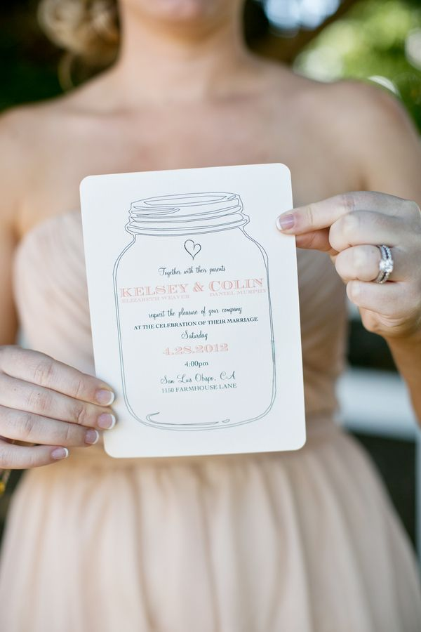 Mason Jar Invitation  |  jennifer bagwell photography & meghan wiesman photography