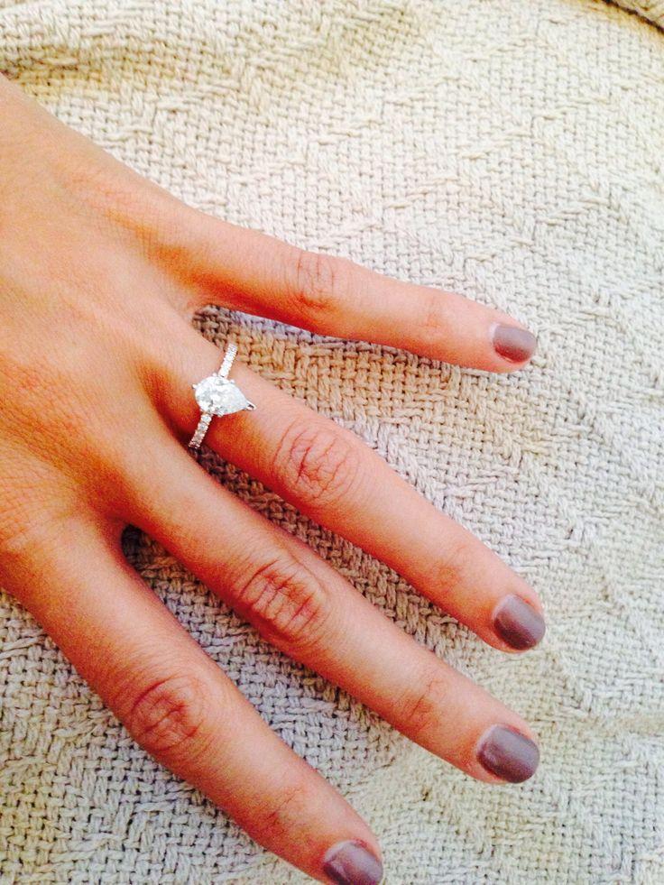 My engagement ring #peardiamond