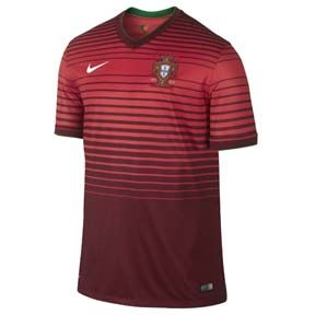 Nike  Portugal  World Cup 2014 Soccer Jersey (Home)
