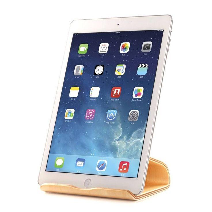Samdi Houten iPad / Tablet Houder Standaard Universeel - Berken Licht  Samdi wooden ipad / tablet stand - birch