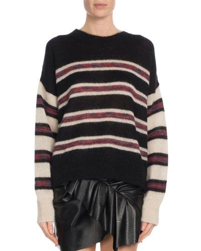 8fa551391b Etoile Isabel Marant Russell Striped Mohair Pullover Sweater ...