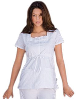 baby phat womens two pocket round neck nursing scrub top - Google Search