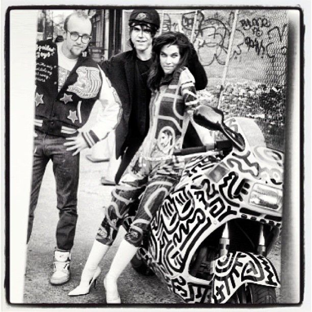 Keith Haring, Stephen Sprouse and Teri Toye.
