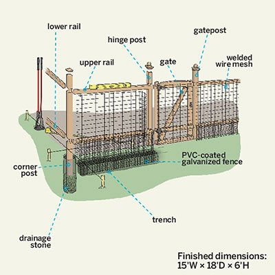 Install A Critter Proof Garden Fence Gardens Cats And