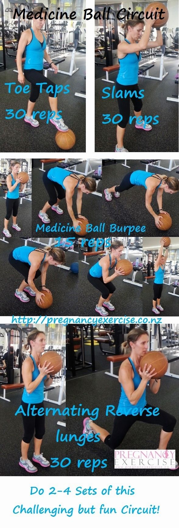 Health & Fitness: Total Body Workout! Medicine Ball: I have been enjoying..... well sort of doing this awesome Medicine Ball circuit! Avoid the Burpees if you still have a Diastasis, this is an exercise circuit that will challenge every muscle in your body. #Fitness #Challenge #Workout