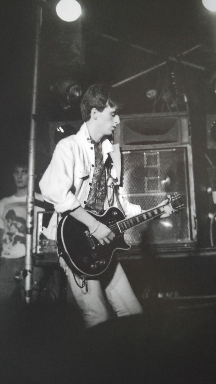 Johnny Marr on stage with The Smiths – photo by Nalinee Darmrong.